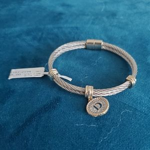 """Initial """"D"""" Cable Stylish design Bracelet"""